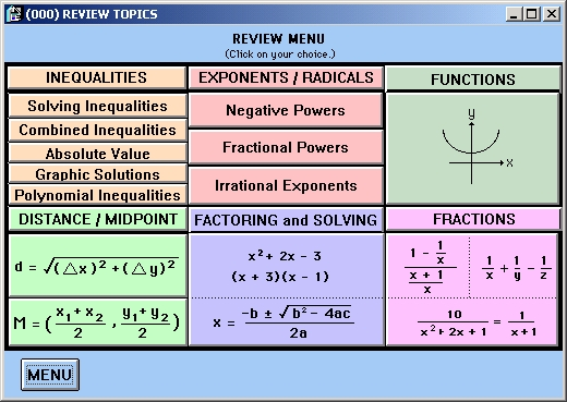 pre calc Learn precalculus for free—trigonometry, conic sections, matrices, complex numbers, combinatorics, and more full curriculum of exercises and videos.