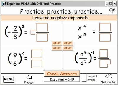 Drill and Practice with hints