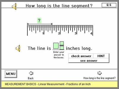 Fractions of an Inch with audio assistance