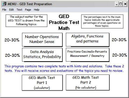 ged 2002 practice test for math over 100 problems. Black Bedroom Furniture Sets. Home Design Ideas