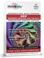 GED - Beginning Practice Test for Math<br>(Over 100 Problems!)
