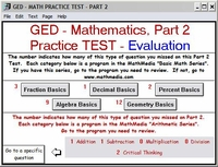 GED Math Test Part 2 will be evaluated