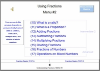 MENU Screen #2: Using Fractions