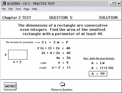 Practice Test has step-by-step solutions