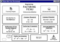 "Program 2:  ""Factoring Polynomials"""