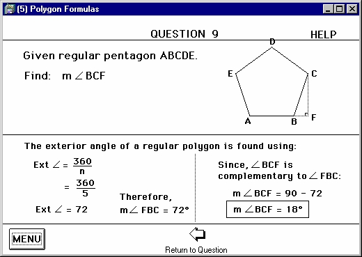 Program 3 polygon formulas similarity - Exterior angle of a polygon formula ...