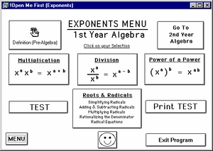 "Program 4:  ""Exponents, Roots, and Radicals"""