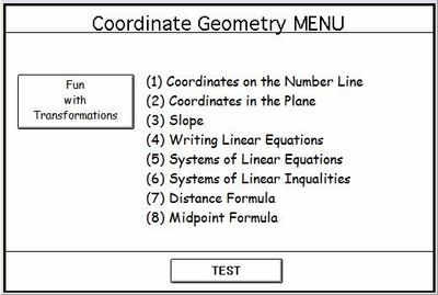 "Program 7: ""Coordinate Geometry"""