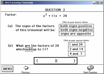 Questions guide the student to the solution