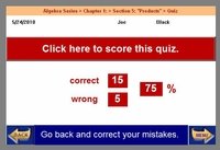 Quiz is scored immediately - Scores are recorded automatically