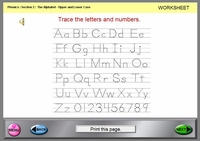 Sec2 Print the Letters - Worksheet