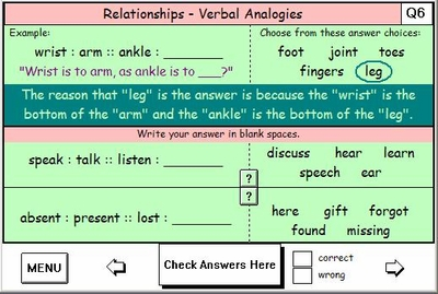 Verbal Analogies