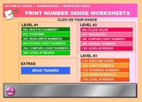 Worksheet MENU