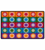 Dot Spots Seating Carpet Educational Classroom Rug