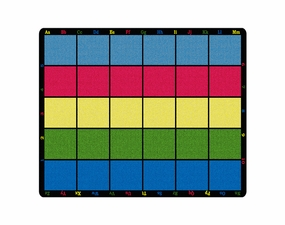 Learning Grid Seating Educational Classroom Rug