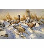 Winter Pheasant Wildlife Entrance Mat