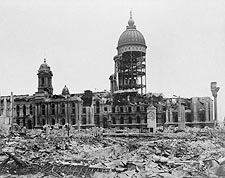 1906 San Francisco City Hall Earthquake Ruins Photo Print for Sale