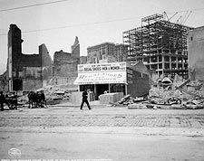 1906 San Francisco Earthquake Shoe Shop Photo Print for Sale