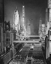 1930 Movie Model of New York City in Future Photo Print for Sale