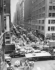 37th Street & 8th Avenue New York City 1948 Photo Print for Sale