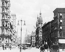 5th Avenue / 42nd Street New York City 1885 Photo Print for Sale