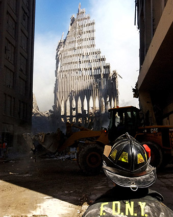 9/11 FDNY Firefighter at World Trade Center Photo Print