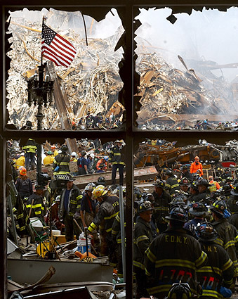 9/11 Firefighters Ground Zero Photo Print