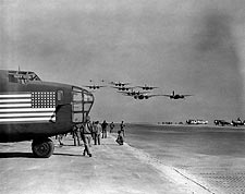 A-20 Havoc Fly-By w/ B-24 in Pacific WWII Photo Print for Sale