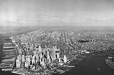 Aerial View Lower Manhattan, New York City Photo Print for Sale