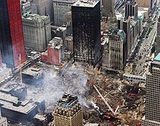 Aerial View of Cleanup 9/11 Photo Print for Sale
