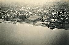 Aerial View of Oestrich, Germany WWI Photo Print for Sale