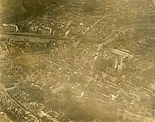 Aerial View of the City of Verdun, France WWI Photo Print for Sale
