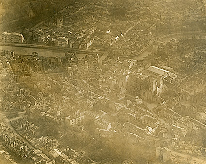 Aerial View of the City of Verdun, France WWI Photo Print