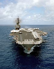Aircraft Carrier USS America CV66 at Sea Photo Print for Sale