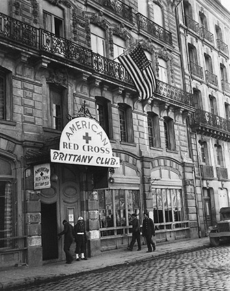 American Red Cross Brittany Club WWII Photo Print