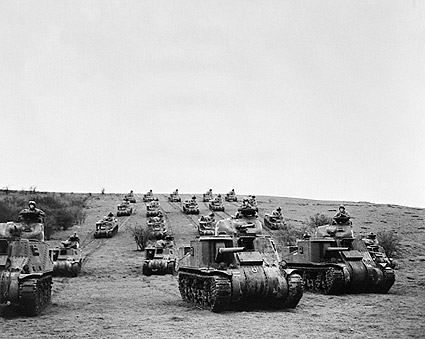 American Tanks & Troops in England WWII Photo Print