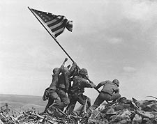 Americans Raising the Flag on Iwo Jima WWII Photo Print for Sale