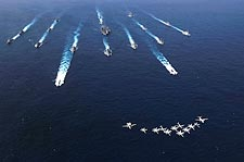 ANNUALEX Exercise Ships w/ Carrier Air Wing Five (CVW-5) Photo Print for Sale