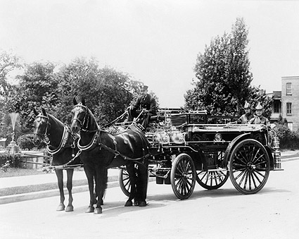 Antique Fire Engine w/ Royal Hose & Nozzle in Pennsylvania Photo Print