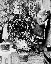Antique Santa Claus Telephone Call 1897 Photo Print for Sale