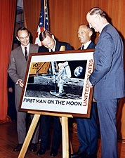Apollo 11 Astronauts at Stamp Unveiling NASA Photo Print for Sale