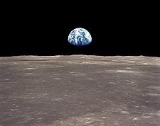 Apollo 11 Mission Earthrise Over Moon Photo Print for Sale