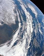 Apollo 12 View of Earth from Space NASA Photo Print for Sale