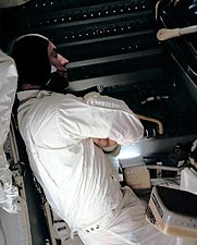 Apollo 13 Astronaut James Lovell Resting Photo Print for Sale
