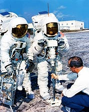Apollo 13 Fred Haise and Jim Lovell Training Exercise Photo Print for Sale