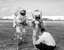 Apollo 13 Fred Haise & James Lovell Moon Photo Print for Sale