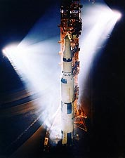 Apollo 13 Saturn V Rocket on Launch Pad Photo Print for Sale