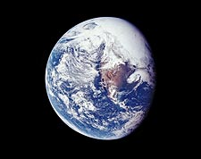 Apollo 16 Earth from Space Photo Print for Sale