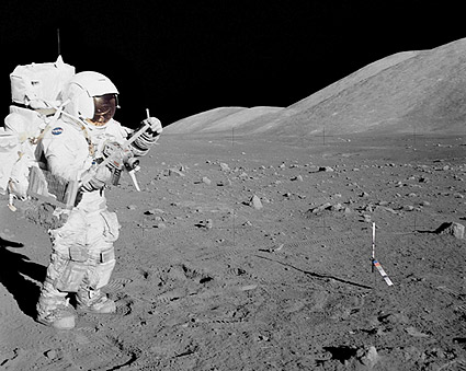 Apollo 17 Footage: Astronaut: How did he stay Upright? Apollo-17-astronaut-harrison-schmitt-moon-photo-print-6