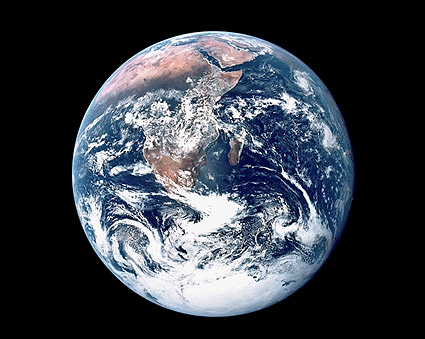 Apollo 17 Earth from Space Photo Print
